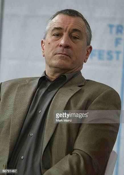 Actor Robert De Niro attends the Third Annual Tribeca Film Festival opening press conference May 1 2004 in New York City