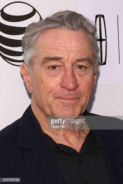 Actor Robert De Niro attends the world premiere of 'Maggie' during the 2015 Tribeca Film Festival at BMCC Tribeca PAC on April 22 2015 in New York...