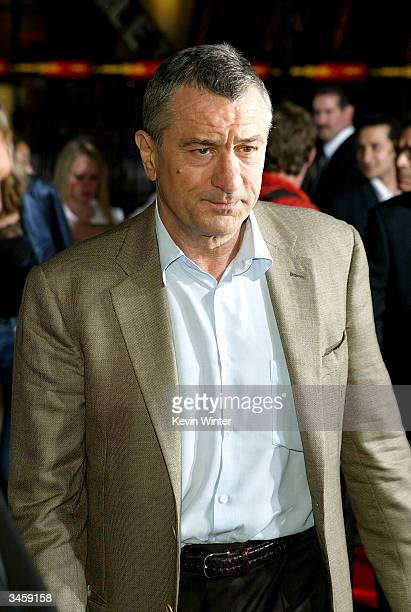 Actor Robert De Niro attends the world premiere of the Lion's Gate film 'Godsend' at the Mann's Chinese Theatre April 22 2004 in Hollywood California