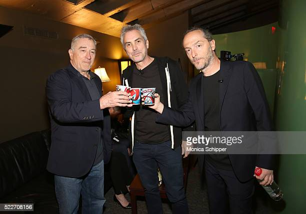 Actor Robert De Niro director Alfonso Cuaron and director cinematographer Emmanuel Lubezki attend Tribeca Talks Directors Series Alfonso Cuaron at...