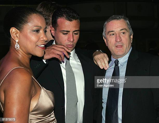 Actor Robert De Niro his wife Grace Hightower and his son Raphael DeNiro attend the cocktail party for the 5th Annual Directors Guild Of America...