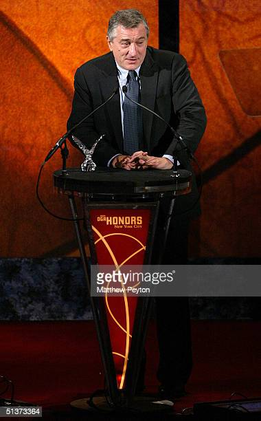 Actor Robert De Niro is honored at the 5th Annual Directors Guild Of America Honors at the Waldorf Astoria Hotel September 29 2004 in New York City