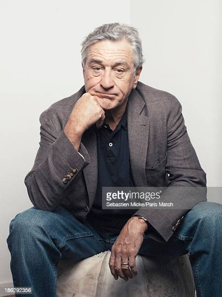 Actor Robert De Niro is photographed for Paris Match on October 15 2013 in SaintDenis France