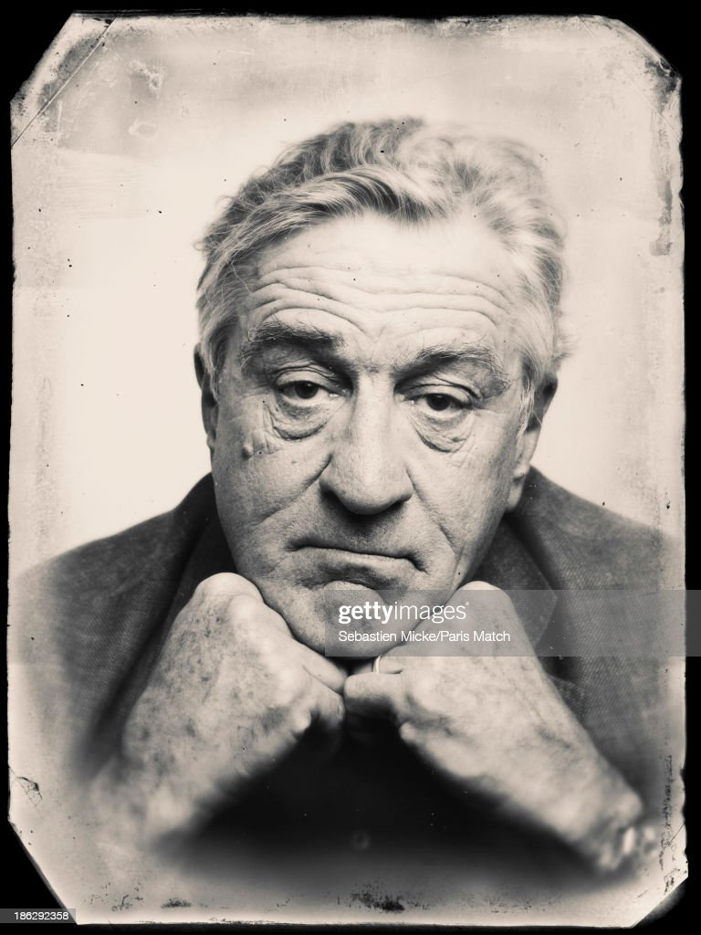 Actor <a gi-track='captionPersonalityLinkClicked' href=/galleries/search?phrase=Robert+De+Niro&family=editorial&specificpeople=201673 ng-click='$event.stopPropagation()'>Robert De Niro</a> is photographed for Paris Match on October 15, 2013 in Saint-Denis, France.