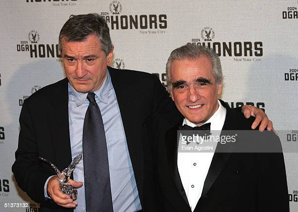 Actor Robert De Niro poses with Director Martin Scorsese backstage at the 5th Annual Directors Guild Of America Honors at the Waldorf Astoria Hotel...