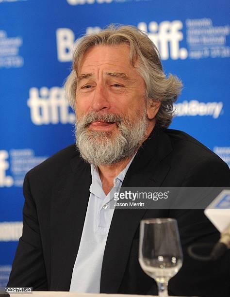Actor Robert De Niro speaks at 'Stone' press conference during the 2010 Toronto International Film Festival at the Hyatt Regency on September 10 2010...