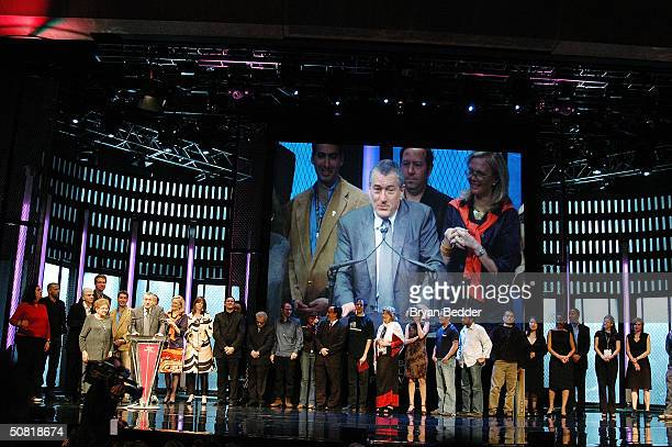 Actor Robert De Niro speaks at the Third Annual Tribeca Film Festival Awards Ceremony May 9 2004 in New York City