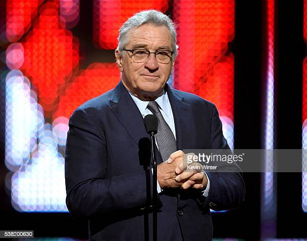 Actor Robert De Niro speaks onstage during Spike TV's 10th Annual Guys Choice Awards at Sony Pictures Studios on June 4 2016 in Culver City California