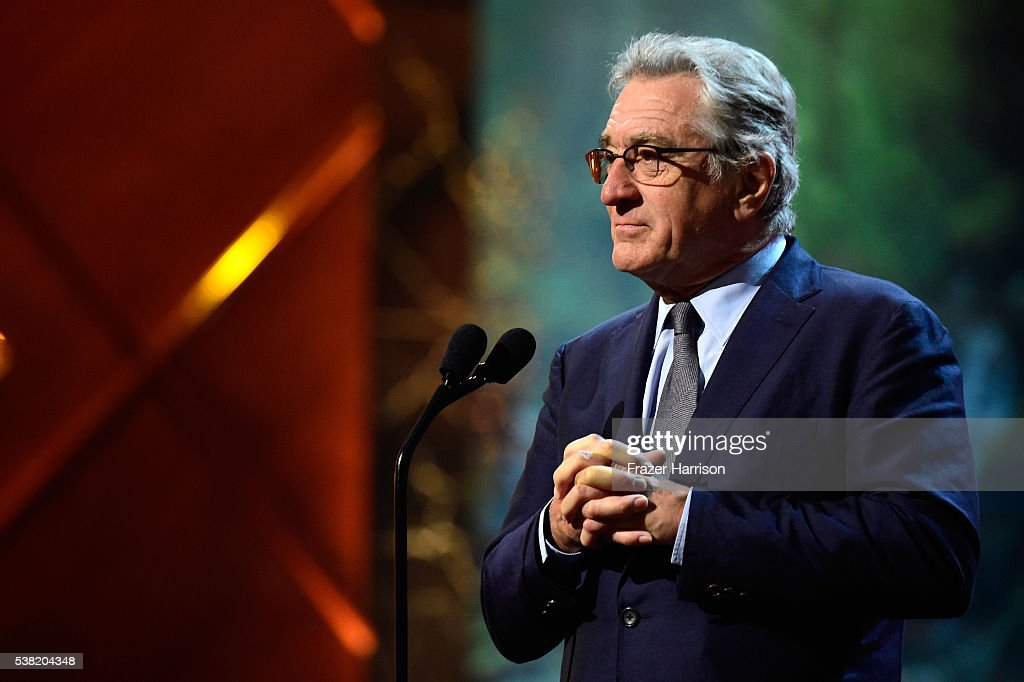 Actor Robert De Niro speaks onstage during Spike TV's 10th Annual Guys Choice Awards at Sony Pictures Studios on June 4, 2016 in Culver City, California.