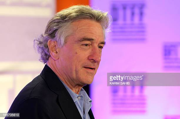US actor Robert De Niro the founder of New York's Tribeca Film Festival arrives at the Doha version of the event in the Qatari capital on October 28...