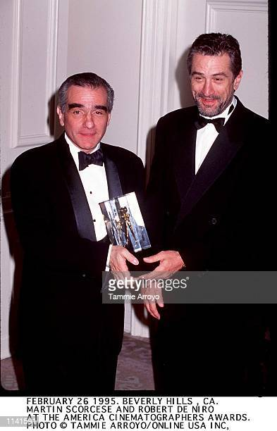 Actor Robert DeNiro and director Martin Scorsese at the American Cinematographers Awards in Beverly Hills February 26 1995