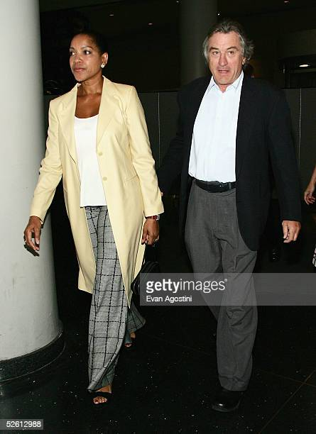 Actor Robert DeNiro and wife Grace Hightower attend the 'House Of D' film premiere at Loews Lincoln Square Theater April 10 2005 in New York City