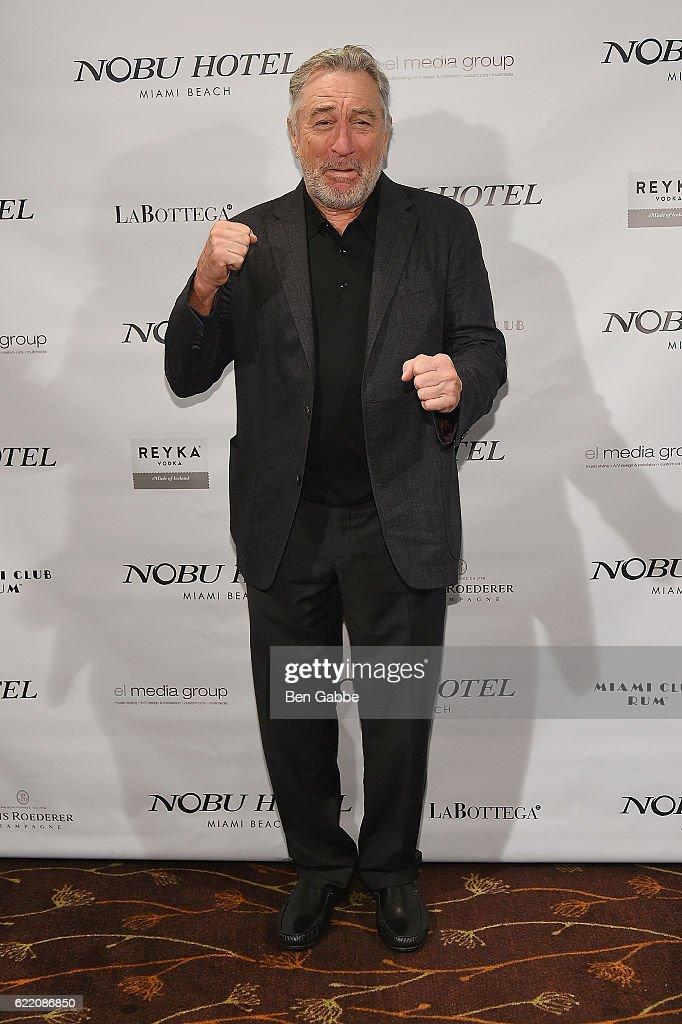 Actor Robert DeNiro attends Nobu Hotel Miami Beach launch VIP cocktail at Nobu Next Door on November 7, 2016 in New York City.
