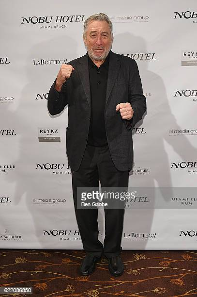 Actor Robert DeNiro attends Nobu Hotel Miami Beach launch VIP cocktail at Nobu Next Door on November 7 2016 in New York City