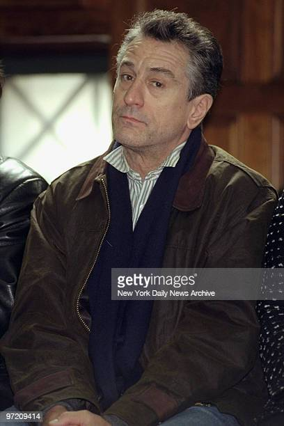 Actor Robert DeNiro sits in courtroom in State Supreme Court DeNiro was one of a group of former jurors honored on Jurors Day