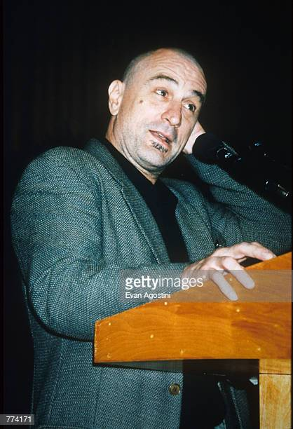 Actor Robert DeNiro speaks at the New York State Council on the Arts'' 1996 Governor's Arts Awards at the Metropolitan Museum of Art October 2 1996...