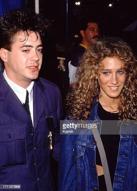 Actor Robert Downey Jr and actress Sarah Jessica Parker attend the screening of the CBS Television Movie 'Going for the Gold The Bill Johnson Story'...