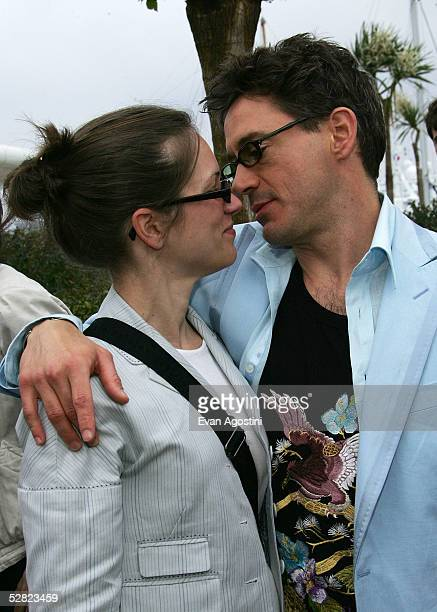 Actor Robert Downey Jr and producer Susan Levin attend a photocall promoting the film 'Kiss Kiss Bang Bang' at the Palais during the 58th...