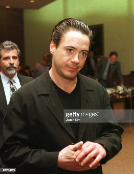 Actor Robert Downey Jr appears in court December 27 2000 in Indo CA Downey pleaded not guilty to drug charges stemming from his November 25 2000...
