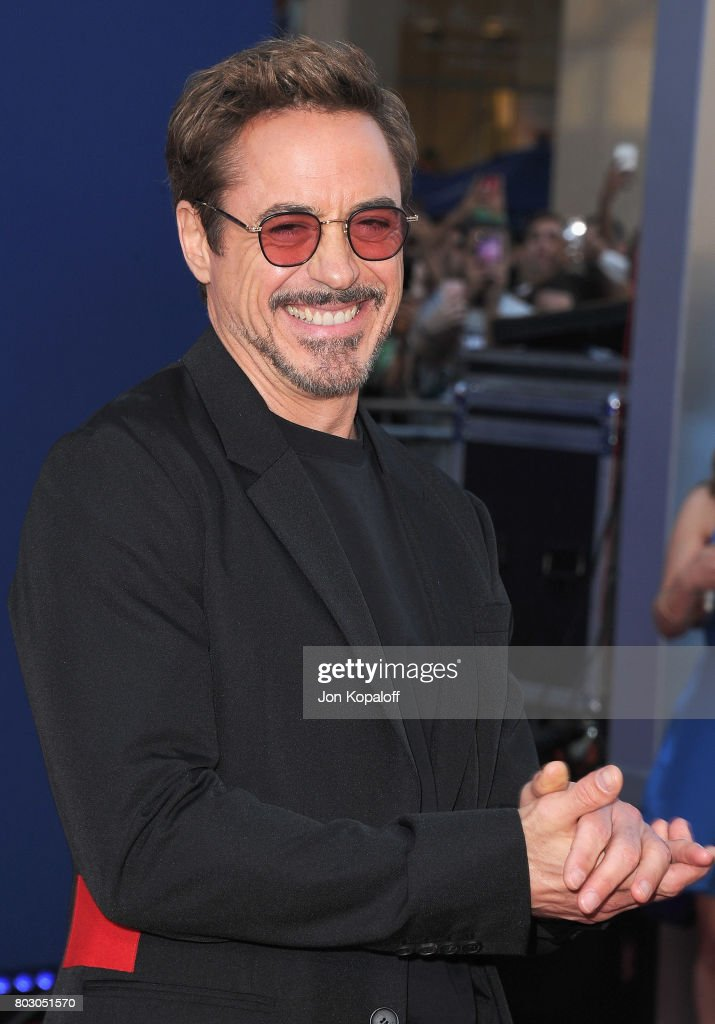 Actor Robert Downey Jr. arrives at the Los Angeles Premiere 'Spider-Man: Homecoming' at TCL Chinese Theatre on June 28, 2017 in Hollywood, California.