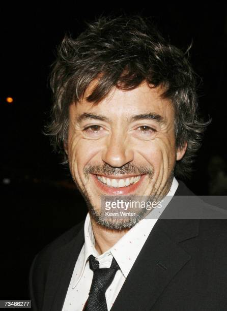 Actor Robert Downey Jr arrives at the premiere of Paramount Picture's 'Zodiac' at the Paramount Theatre on March 1 2007 in Los Angeles California