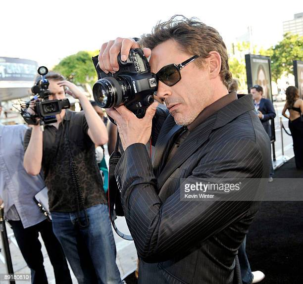 Actor Robert Downey Jr arrives at the premiere of Warner Bros 'Orphan' at the Mann Village Theater on July 21 2009 in Los Angeles California