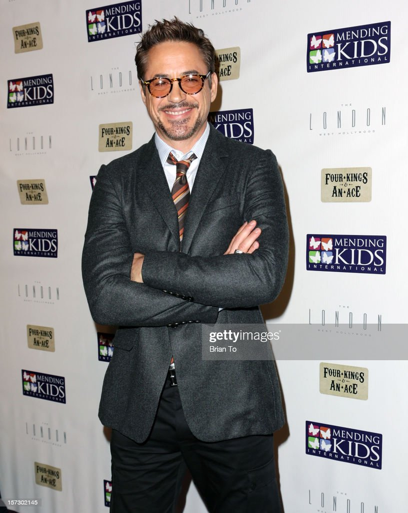 Actor Robert Downey, Jr. attends Mending Kids International celebrity poker tournament at The London Hotel on December 1, 2012 in West Hollywood, California.