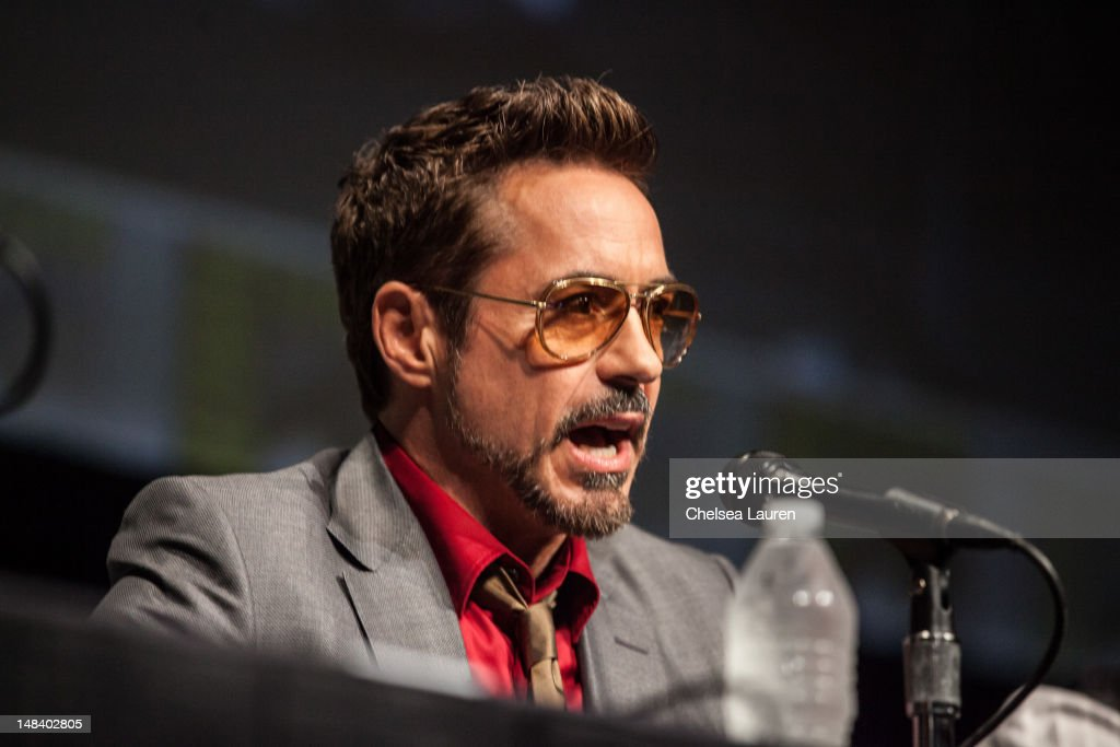 Actor Robert Downey, Jr. attends the 'Iron Man 3' panel at San Diego Convention Center on July 14, 2012 in San Diego, California.