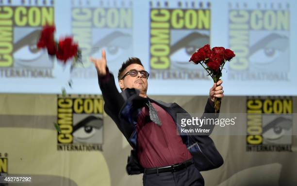 Actor Robert Downey Jr attends the Marvel Studios panel during ComicCon International 2014 at San Diego Convention Center on July 26 2014 in San...