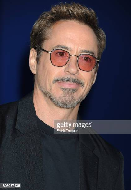 Actor Robert Downey Jr attends the premiere of Columbia Pictures' 'SpiderMan Homecoming' held at TCL Chinese Theatre on June 28 2017 in Hollywood...