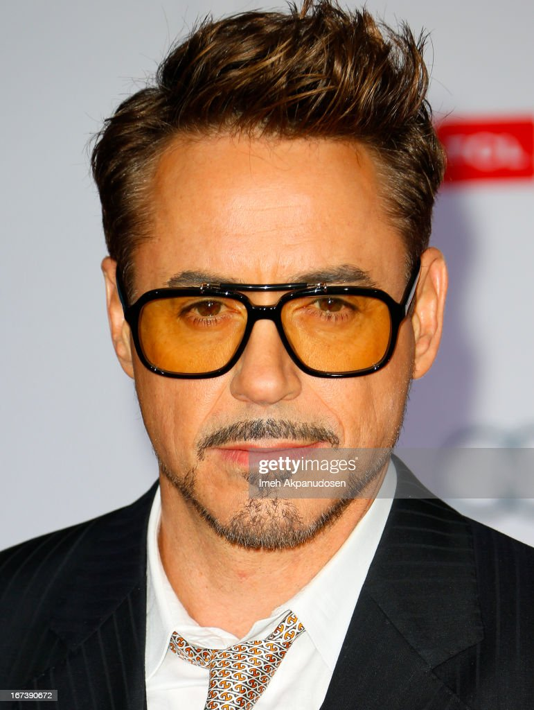 Actor <a gi-track='captionPersonalityLinkClicked' href=/galleries/search?phrase=Robert+Downey+Jr.&family=editorial&specificpeople=204137 ng-click='$event.stopPropagation()'>Robert Downey Jr.</a> attends the premiere of Walt Disney Pictures' 'Iron Man 3' at the El Capitan Theatre on April 24, 2013 in Hollywood, California.