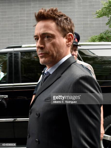 Actor Robert Downey Jr is seen around town during the 2014 Toronto International Film Festival on September 5 2014 in Toronto Canada
