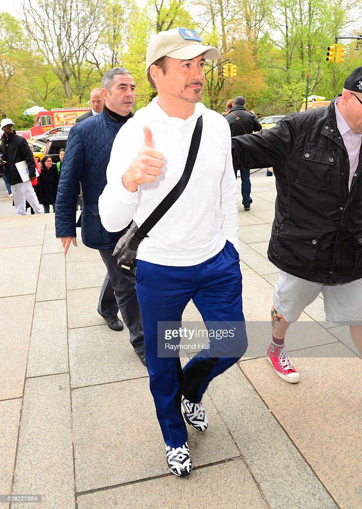 Actor Robert Downey Jr is seen arriving at the Museum of Natural History on May 5, 2016 in New York City.