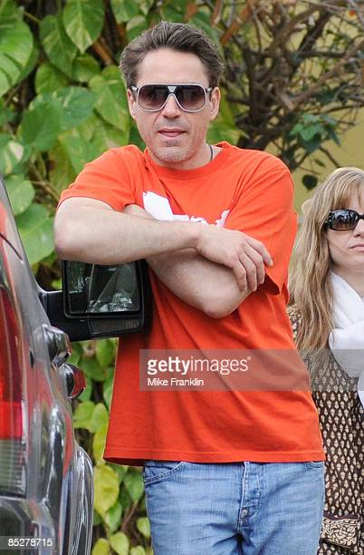Actor Robert Downey Jr is seen on March 6 2009 in Miami Beach Florida