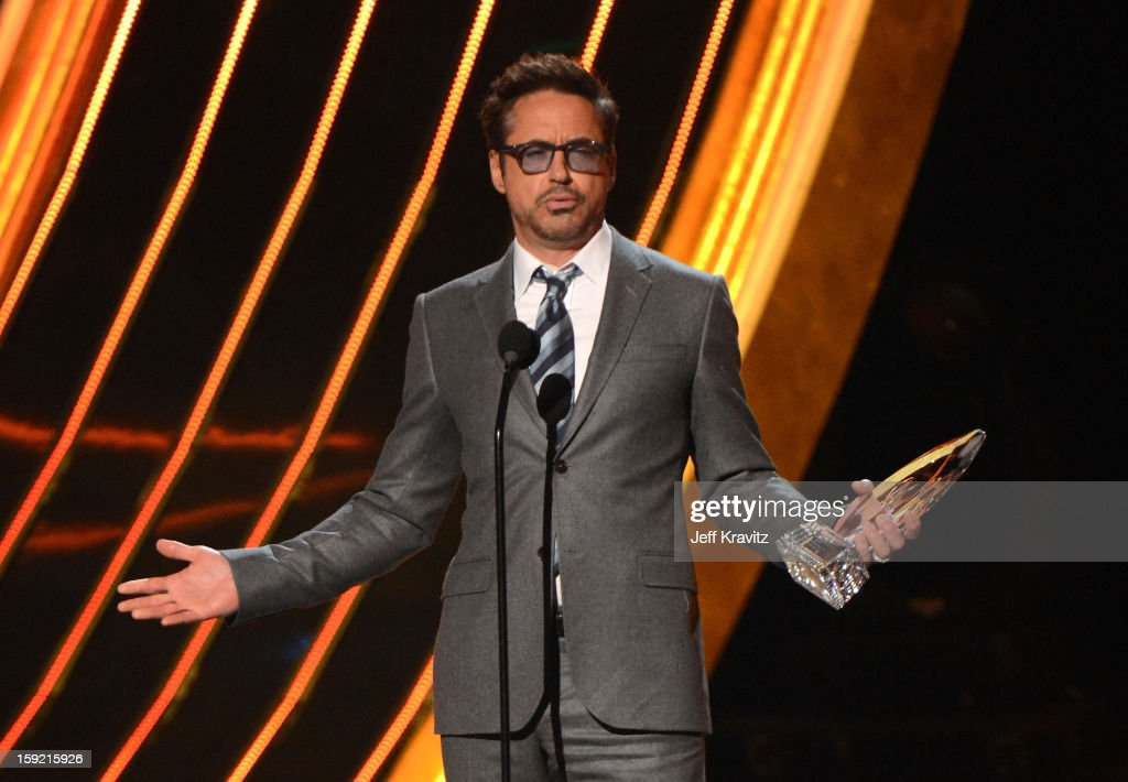 Actor Robert Downey Jr. onstage during the 2013 People's Choice Awards at Nokia Theatre L.A. Live on January 9, 2013 in Los Angeles, California.