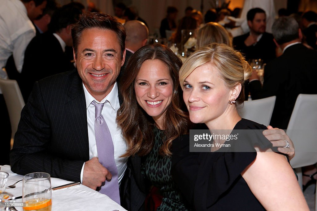 Actor Robert Downey Jr., producer Susan Downey and honoree Reese Witherspoon attend the 7th Annual March of Dimes Celebration of Babies, a Hollywood Luncheon, at the Beverly Hills Hotel on December 7, 2012 in Beverly Hills, California.
