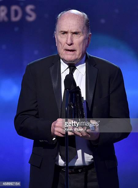 Actor Robert Duvall accepts the Hollywood Supporting Actor Award for 'The Judge' onstage during the 18th Annual Hollywood Film Awards at The...