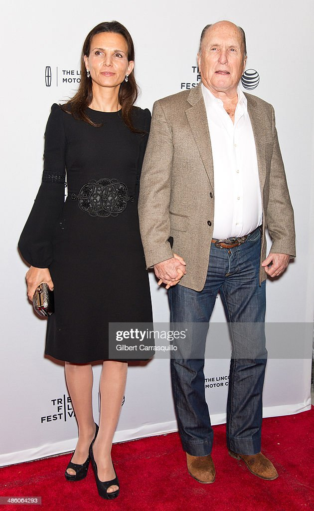 Actor Robert Duvall (R) and Luciana Pedraza attend the screening of 'Miss Meadows' during the 2014 Tribeca Film Festival at SVA Theater on April 21, 2014 in New York City.