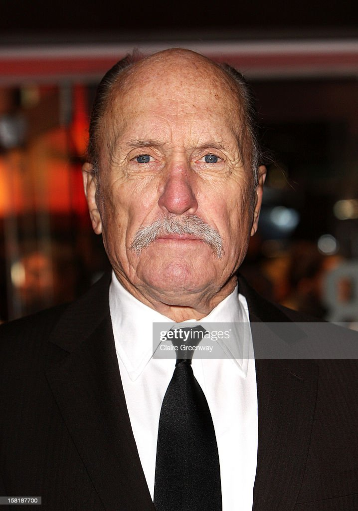 Actor <a gi-track='captionPersonalityLinkClicked' href=/galleries/search?phrase=Robert+Duvall&family=editorial&specificpeople=206637 ng-click='$event.stopPropagation()'>Robert Duvall</a> attends the world premiere of 'Jack Reacher' at The Odeon Leicester Square on December 10, 2012 in London, England.