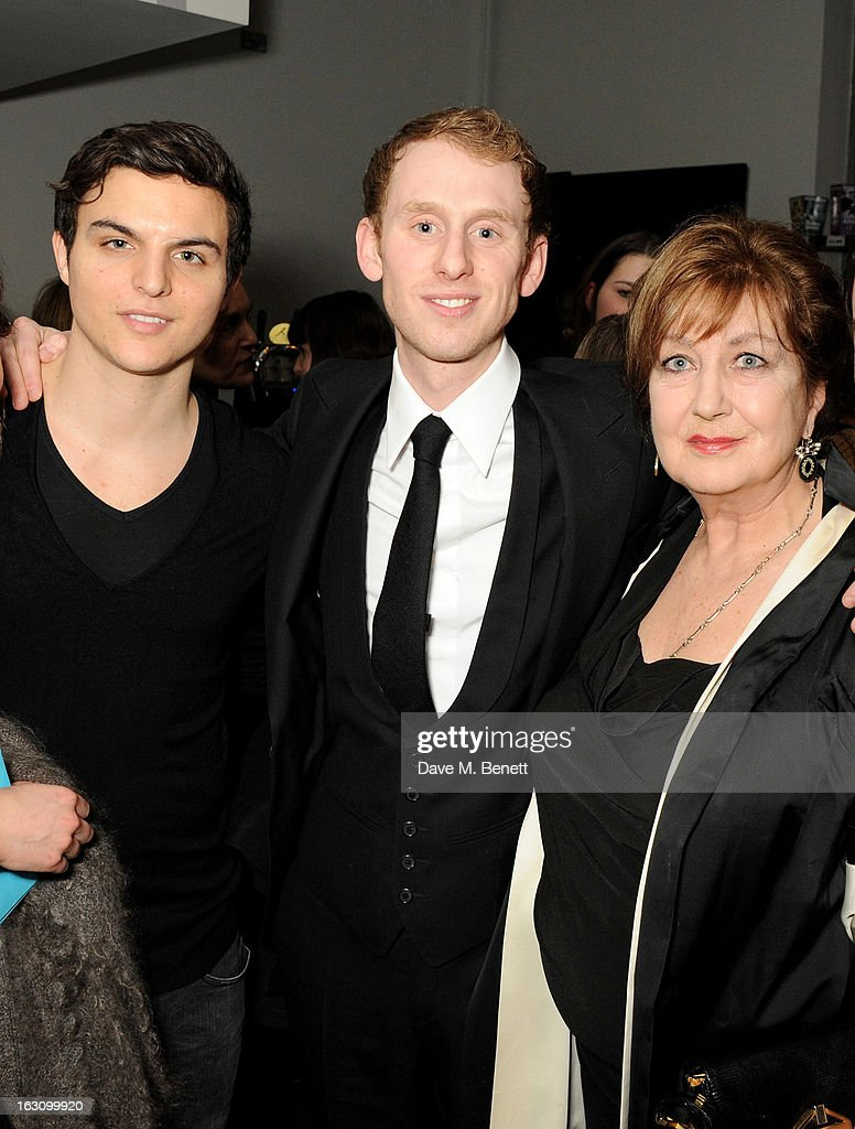 Actor Robert Emms (C) and guests attend the UK premiere of 'Broken' at the Hackney Picturehouse on March 4, 2013 in London, England.