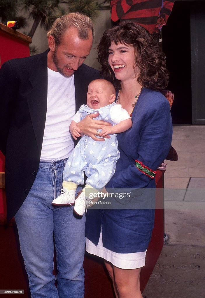 Actor Robert Englund and actress Heather Langenkamp and son David Anderson attend the 'Freddy's Dead The Final Nightmare' Hollywood Premiere on...