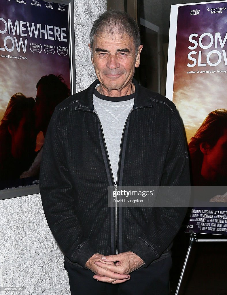 Actor Robert Forster attends a screening of Logolite Entertainment & Screen Media Films' 'Somewhere Slow' at Arena Cinema Hollywood on January 31, 2014 in Hollywood, California.