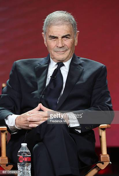 Actor Robert Forster of the television show 'Twin Peaks' speaks onstage during the Showtime portion of the 2017 Winter Television Critics Association...