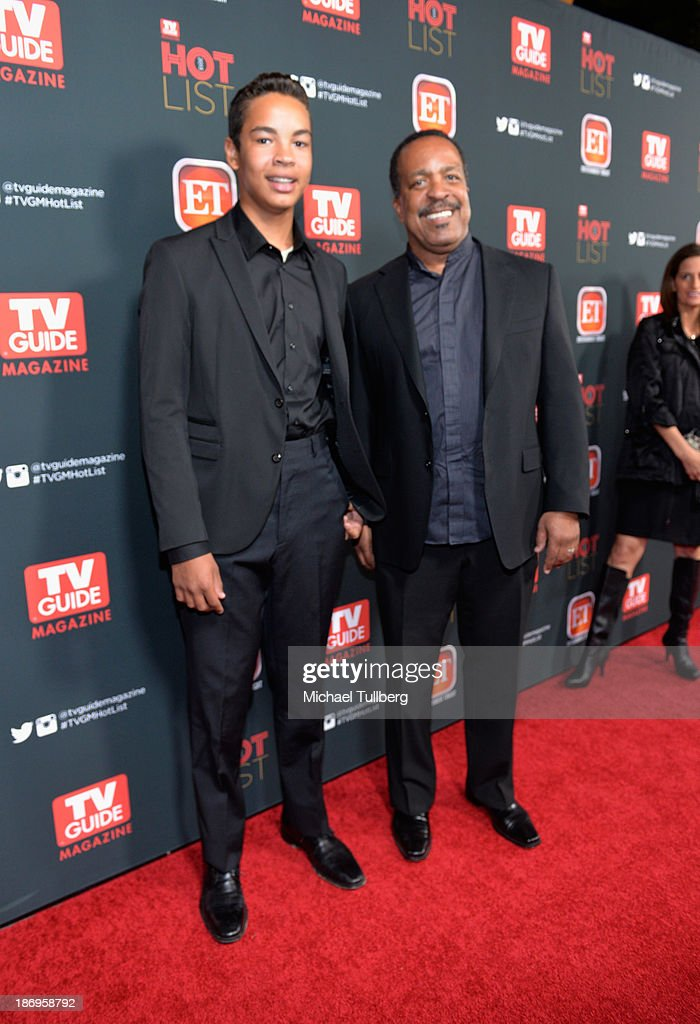 Actor Robert Gossett (R) and son Luke attend TV Guide Magazine's Annual Hot List Party at The Emerson Theatre on November 4, 2013 in Hollywood, California.
