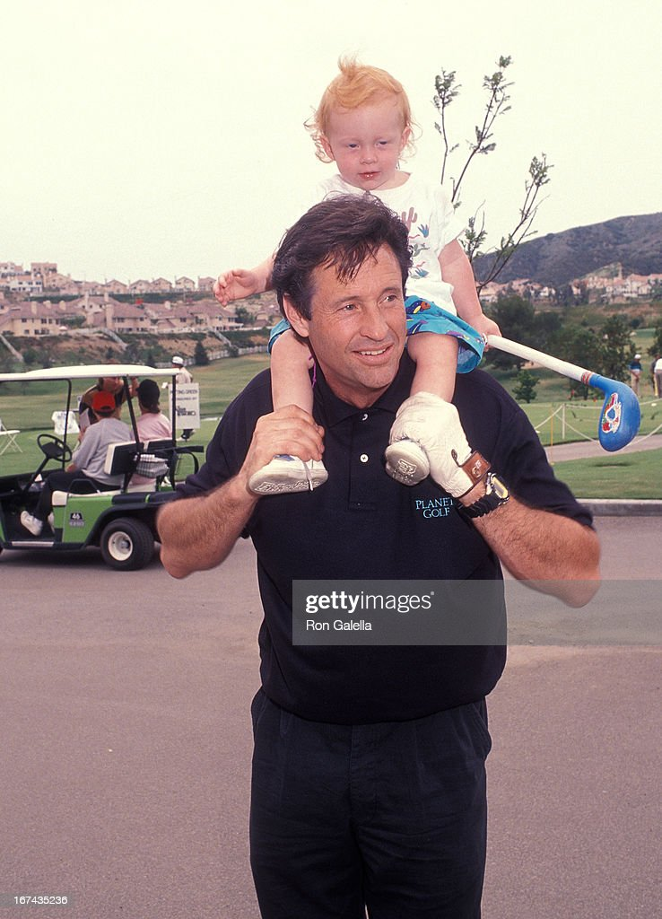 Actor Robert Hays and son Jake Hays attend the T.J. Martell Foundation/Neil Bogart Memorial Fund's 10th Annual Rock 'n' Charity Weekend - Celebrity Golf Tournament on June 11, 1992 at the Calabasas Country Club in Calabasas, California.