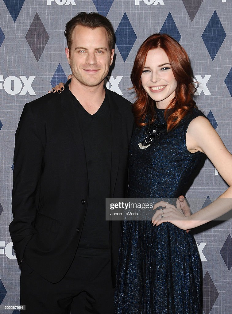 Actor Robert Kazinsky and actress Chloe Dykstra attend the FOX winter TCA 2016 AllStar party at The Langham Huntington Hotel and Spa on January 15...