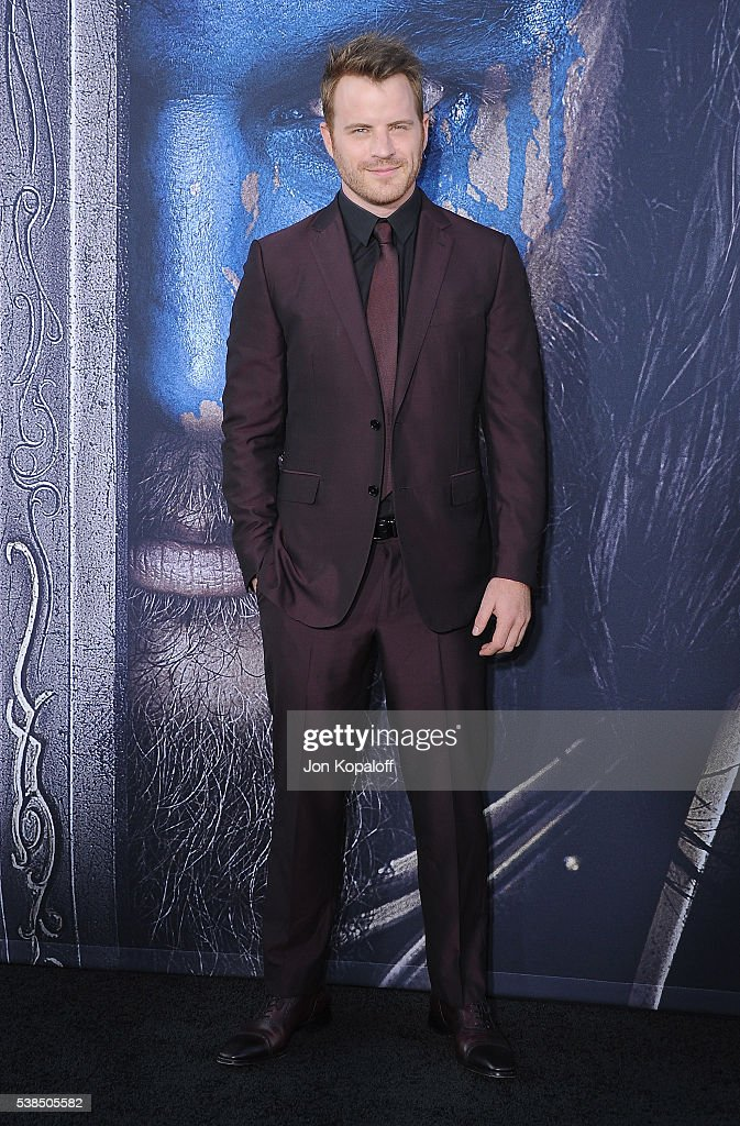 Actor Robert Kazinsky arrives at the Los Angeles Premiere 'Warcraft' at TCL Chinese Theatre IMAX on June 6 2016 in Hollywood California