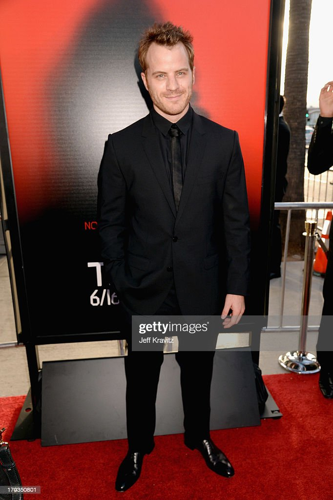 Actor Robert Kazinsky attends HBO's 'True Blood' season 6 premiere at ArcLight Cinemas Cinerama Dome on June 11 2013 in Hollywood California