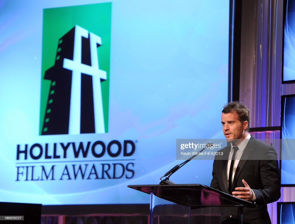 Actor Robert Kazinsky speaks onstage during the 17th annual Hollywood Film Awards at The Beverly Hilton Hotel on October 21 2013 in Beverly Hills...