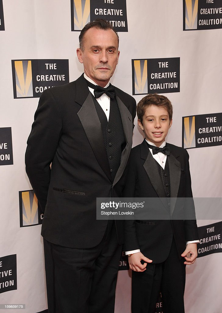 Actor <a gi-track='captionPersonalityLinkClicked' href=/galleries/search?phrase=Robert+Knepper&family=editorial&specificpeople=630261 ng-click='$event.stopPropagation()'>Robert Knepper</a> and Benjamin Knepper attend The Creative Coalition's 2013 Inaugural Ball at the Harman Center for the Arts on January 21, 2013 in Washington, United States.